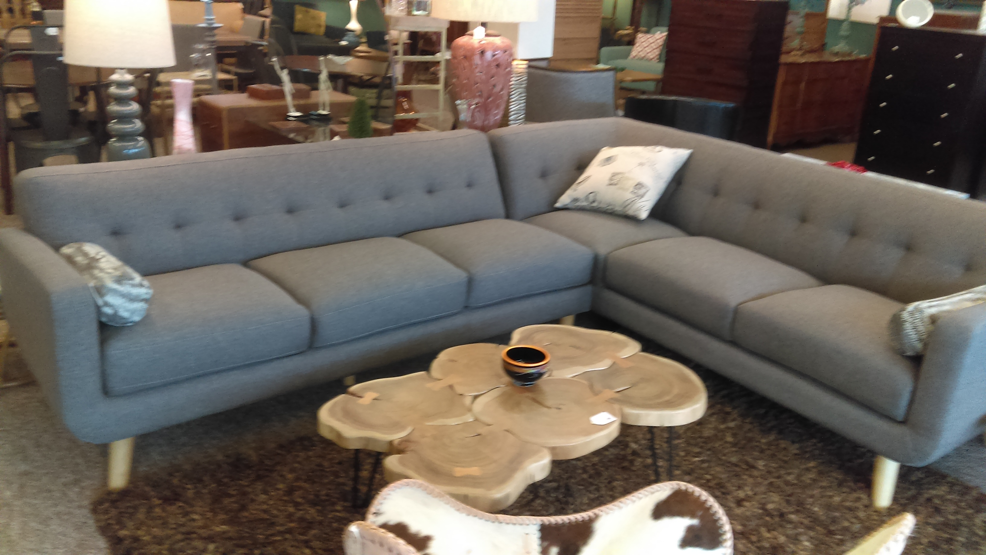 Taupe couch